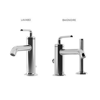 Cité : Ensemble de robinets de lavabo et de baignoire - Chrome