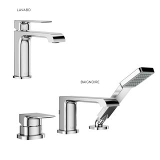 Sobrio : Ensemble de robinets de lavabo et de baignoire - Chrome