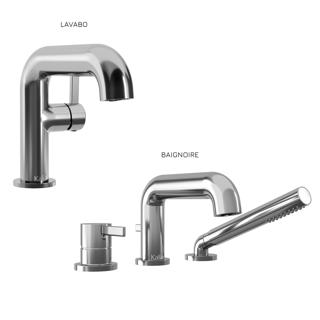 Basico : Ensemble de robinets de lavabo et de baignoire - Chrome