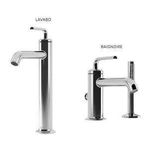 Cité : Ensemble de robinets de vasque et de baignoire - Chrome