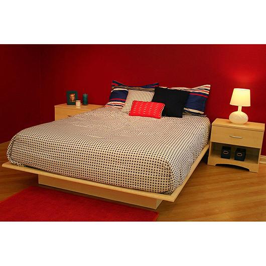 Lit plateforme double 54po avec moulures tanguay - Plateforme de lit double ...