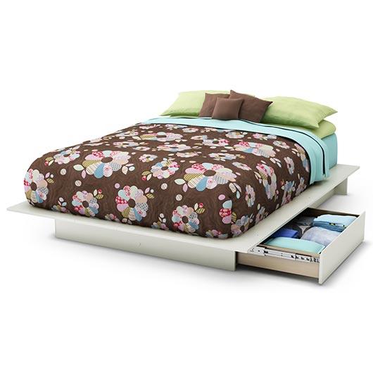 Lit plateforme 54 60po avec tiroir de rangement tanguay - Plateforme de lit double ...