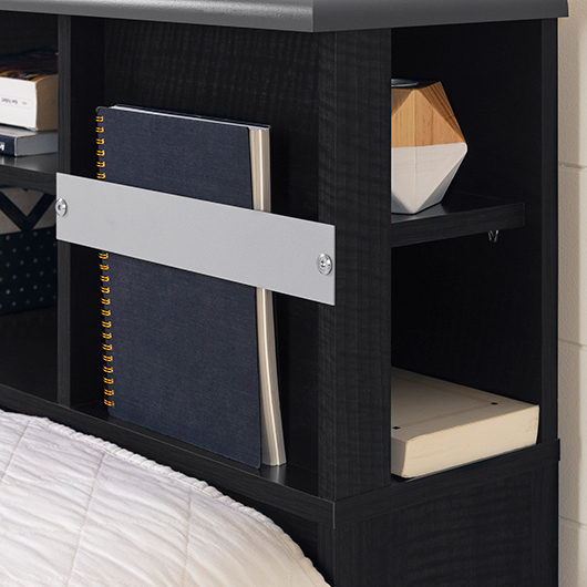 t te de lit bibliotheque double tanguay. Black Bedroom Furniture Sets. Home Design Ideas