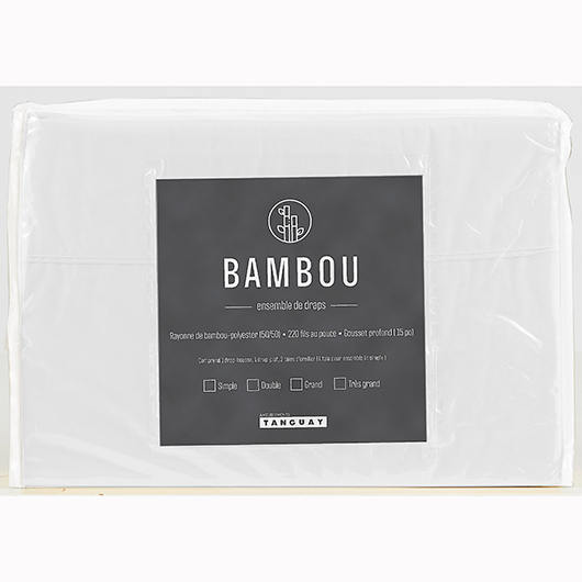 Ensemble de draps Bambou lit simple