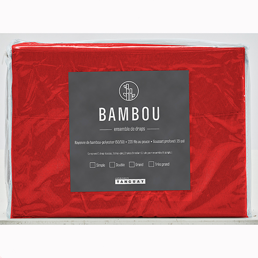 Ensemble de draps Bambou lit double