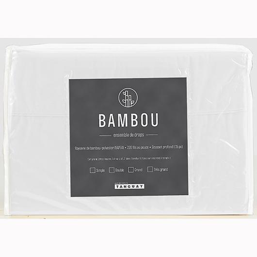 Ensemble de draps Bambou très grand lit