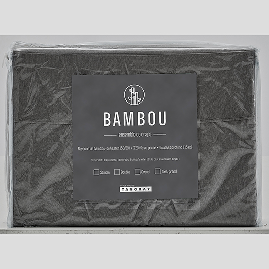 Ensemble de draps Bambou grand lit