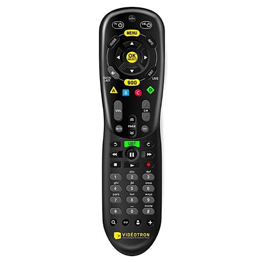 Télécommande nouvelle génération Videotron