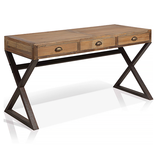 bureau de travail avec 3 tiroirs tanguay. Black Bedroom Furniture Sets. Home Design Ideas