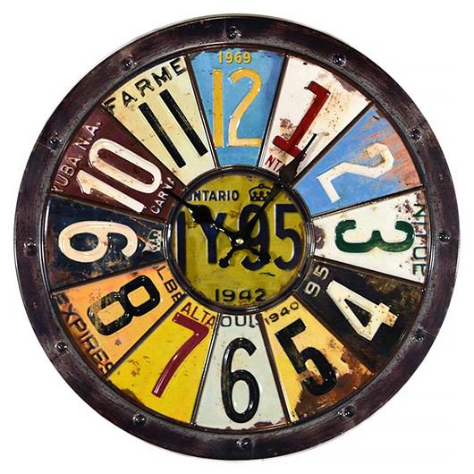 Horloge avec numéros de license