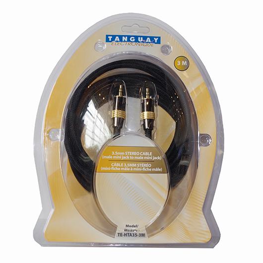 Câble audio stéréo 3.5 à 3.5mm - 3mètres Techni Contact
