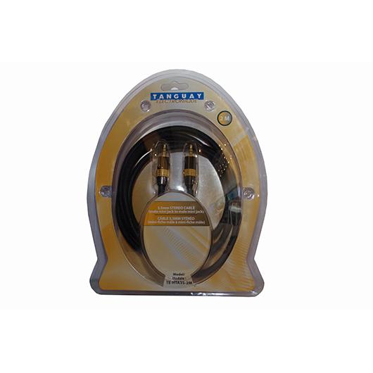 Câble audio stéréo 3.5 à 3.5mm - 2 mètres Techni Contact