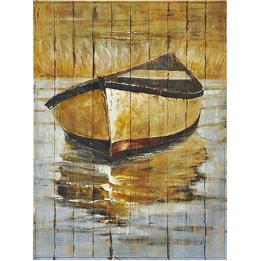 Peinture sur bois 36x48po chaloupe tanguay for Housse pour chaloupe