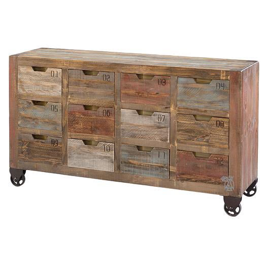 cabinet de rangement avec 12 tiroirs sur roues tanguay. Black Bedroom Furniture Sets. Home Design Ideas
