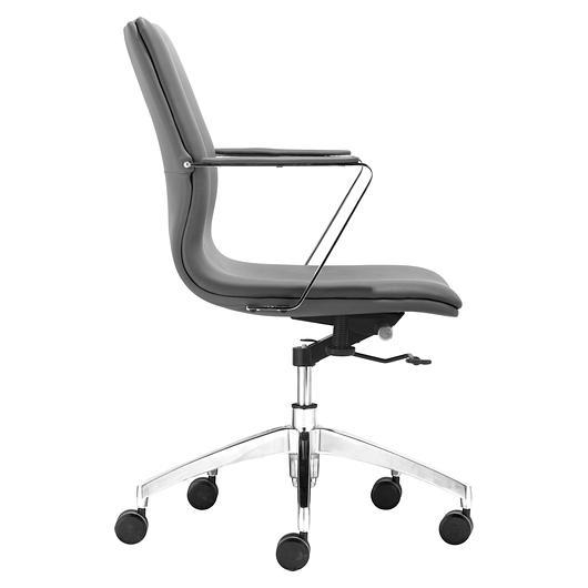 Chaise de bureau avec bras herald low back tanguay for Chaise avec bras