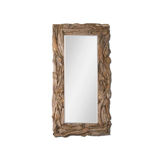 miroir rustique en bois naturel tanguay. Black Bedroom Furniture Sets. Home Design Ideas