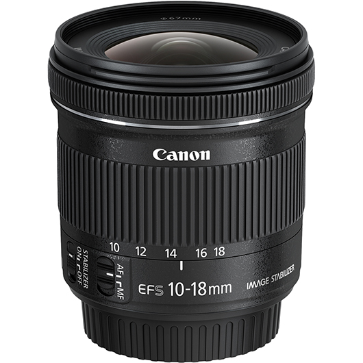 Objectif Grand angle EF-S 10-18mm F4.5-5.6 IS STM Canon