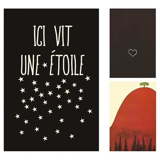 Toile Petit coeur 12x18