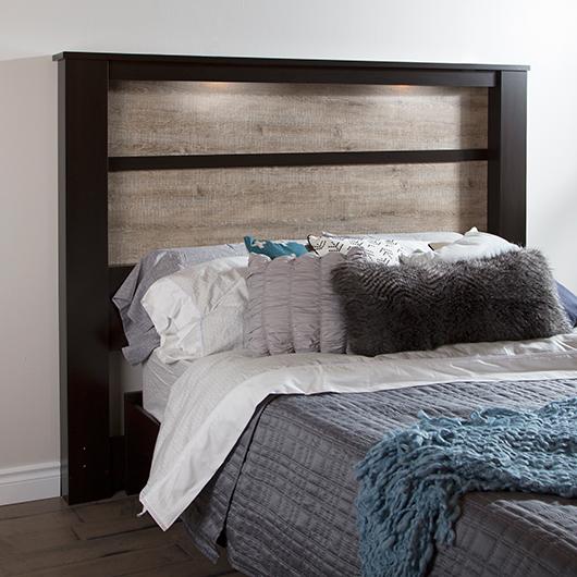 T te de lit tr s grand lit king avec clairage int gr tanguay - Tete de lit avec eclairage ...
