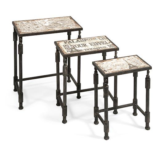 3 tables gigognes d 39 inspiration paris tanguay for Meuble chicoutimi
