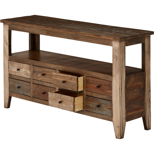 Table console 8 tiroirs Meuble IFD