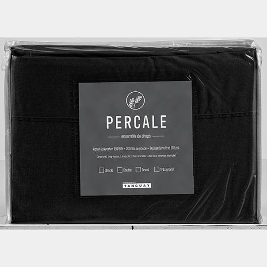 Ensemble de draps Percale 200 grand lit