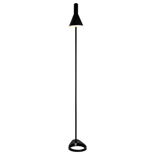 Lampe de plancher métal noir brillant