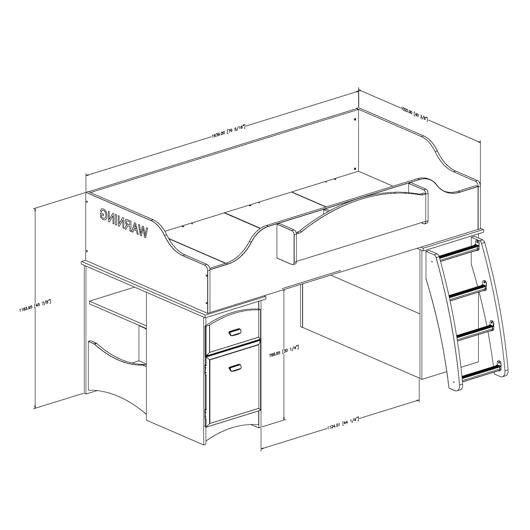 lit mezzanine simple tanguay. Black Bedroom Furniture Sets. Home Design Ideas