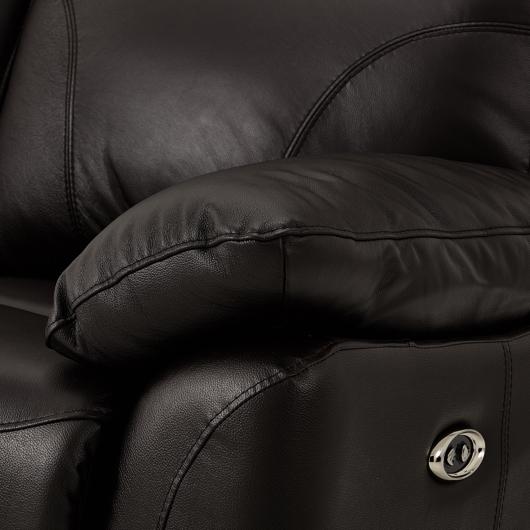 Causeuse inclinable cuir et similicuir motorisée Primo
