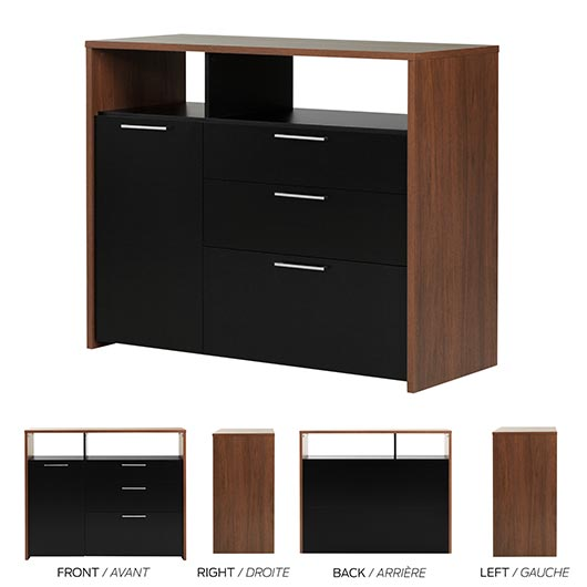 meuble de rangement avec classeur tanguay. Black Bedroom Furniture Sets. Home Design Ideas