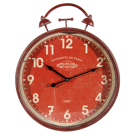 Horloge murale rouge