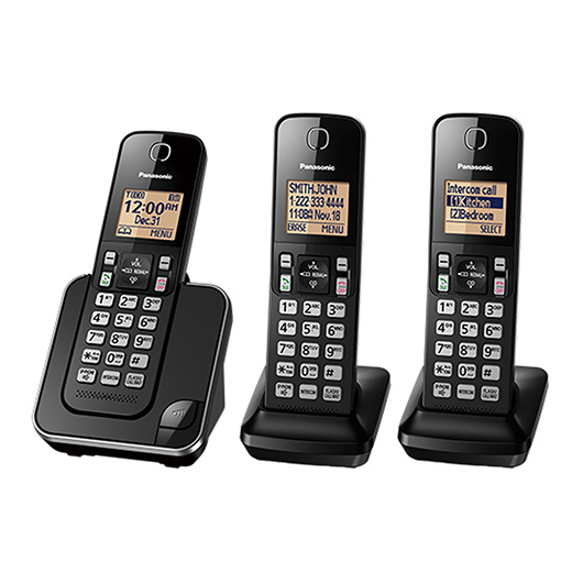 3 téléphones sans fil avec afficheur, mode mains libres Panasonic