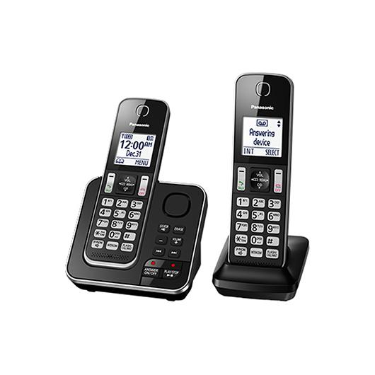 2 téléphones sans fil avec afficheur et répondeur 15 min Panasonic