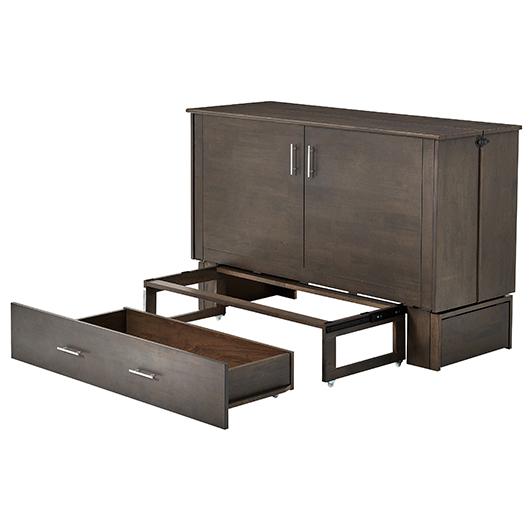 lit escamotable grand lit 2 places contemporain tanguay. Black Bedroom Furniture Sets. Home Design Ideas