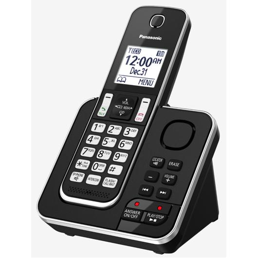 Téléphone sans fil Dect6 avec afficheur et répondeur 15 min Panasonic