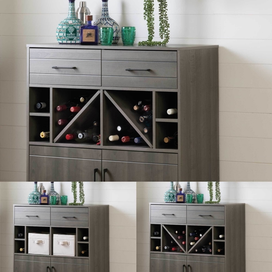 Meuble bar/rangement pour bouteilles et coupes South Shore