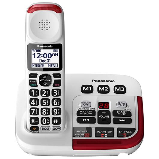 Téléphone sans fil avec amplificateur et répondeur numérique Panasonic