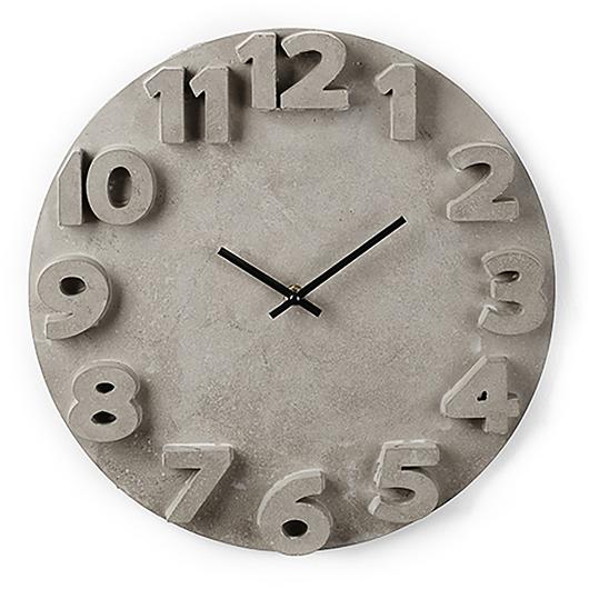 Horloge murale en ciment