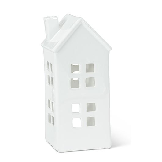 Maison bougeoir en porcelaine blanche