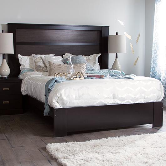 Tête de lit king avec lumières South Shore
