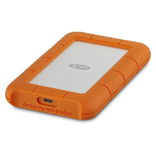 Disque dur externe portatif rugged usb-c de 2 TO LaCie