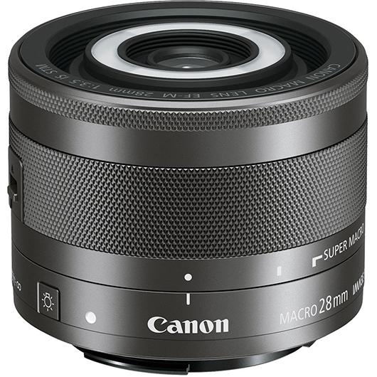 Macro 28 MM avec lampe intégrée Canon