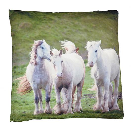 Coussin carré chevaux