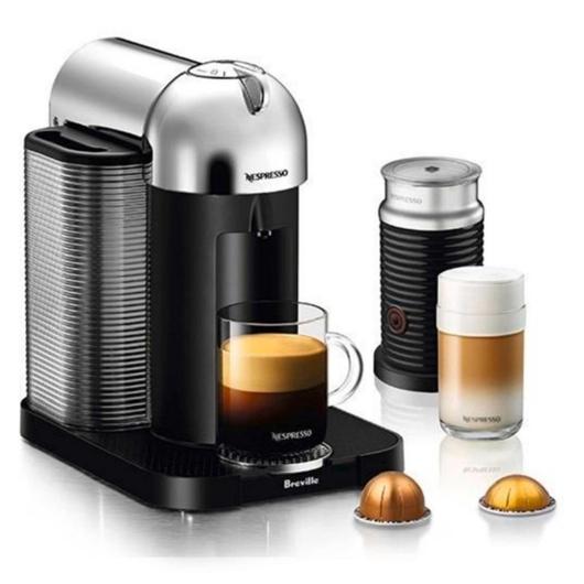 Machine à café Vertuo de Nespresso-Chrome Breville