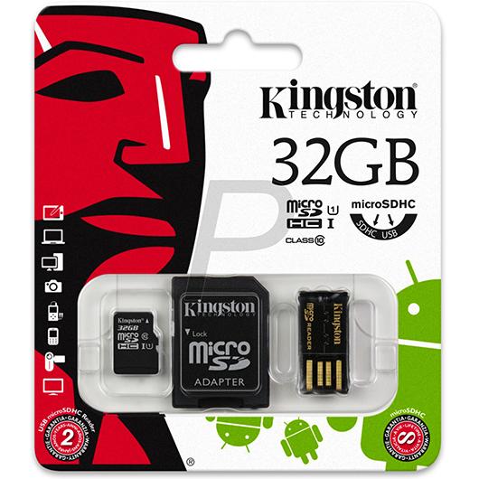 Carte mémoire SDHC 32go classe 10 Kingston