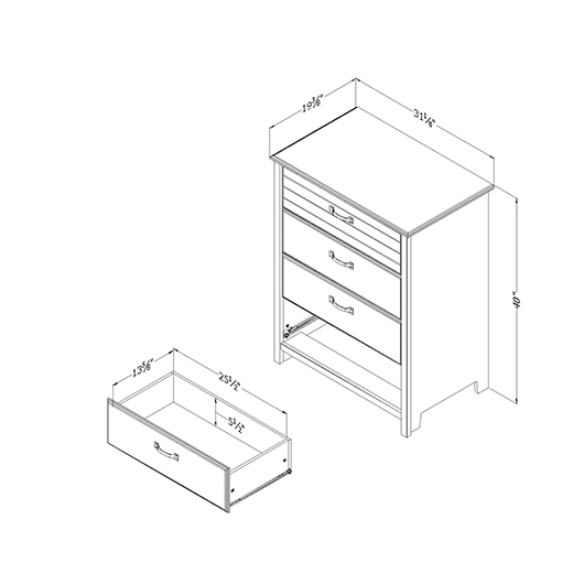 Commode 4 tiroirs South Shore