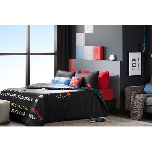 Douillette lit double et couvre-oreiller