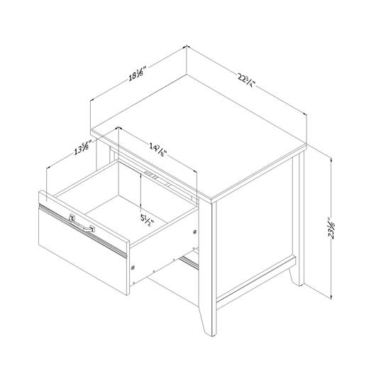 Table de chevet 2 tiroirs South Shore