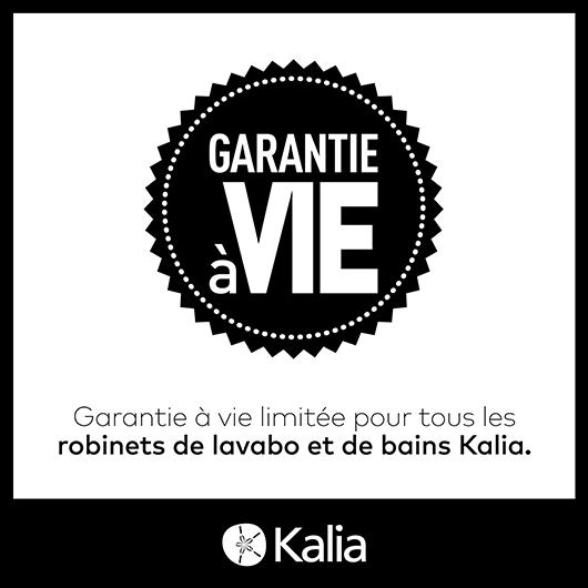 Robinet autoportant pour baignoire avec douchette Grafik - Noir et chrome Kalia