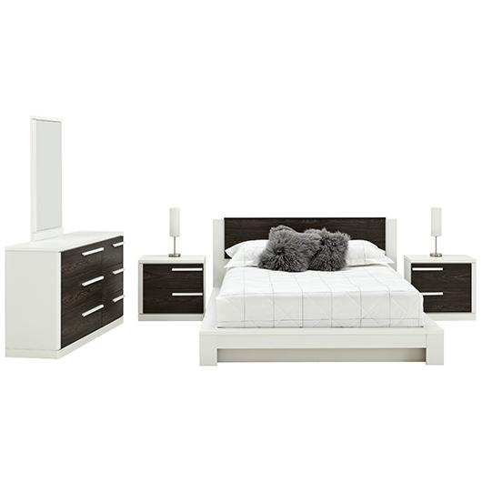 Mobilier de chambre à coucher Grand lit 2 places Meq